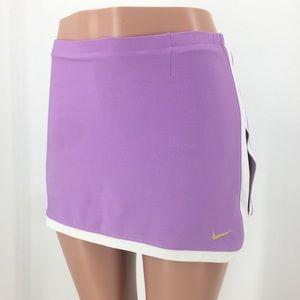 Nike Dri-Fit Purple Running Skort Gold Swoosh